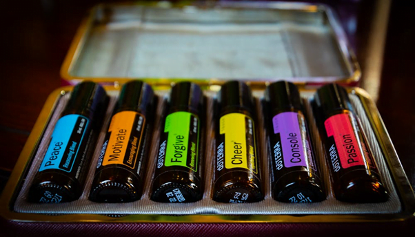 Essential oils can be blended to deliver an effective result from a range of plants for different purposes.